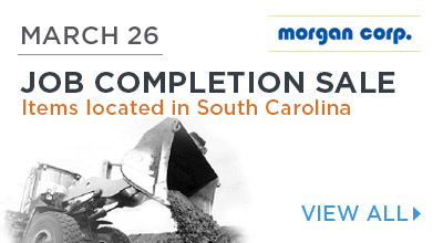 Job Completion Sale.MARCH 26 Auction. Located in South Carolina