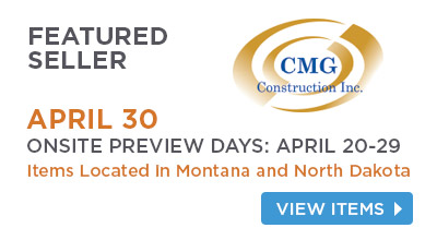CMG Construction Inc. Sale April 30