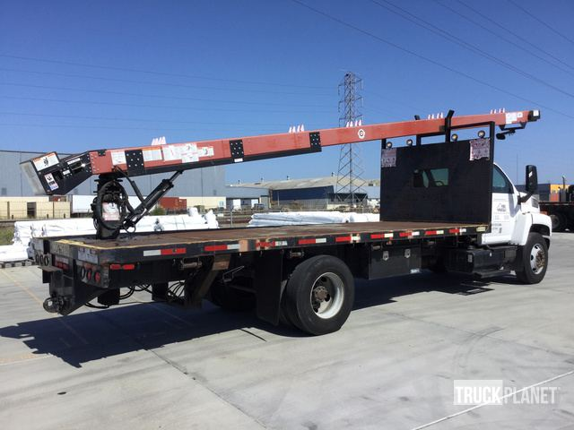 2005 Gmc C8500 Flatbed Truck W Cleasby Fbr 6 36 Roofing