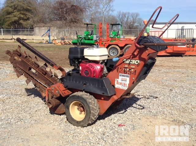 ditch witch 1230 walk behind trencher in alexandria louisiana rh ironplanet com Ditch Witch SK650 Parts Replacement Ditch Witch 1820