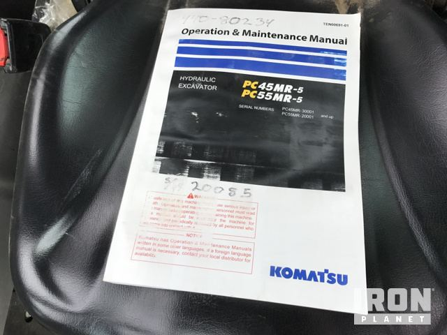 2016 Komatsu PC55MR-5 Mini Excavator in Shippenville, Pennsylvania