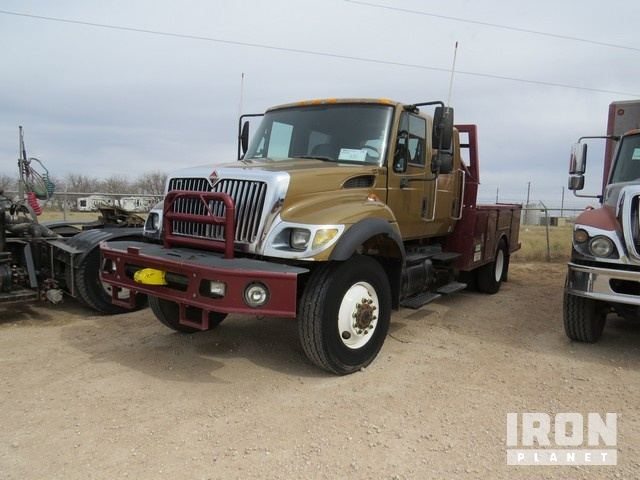 2004 International 7300 4x4 Crew Cab Sa Tool Tr In Odessa Texas