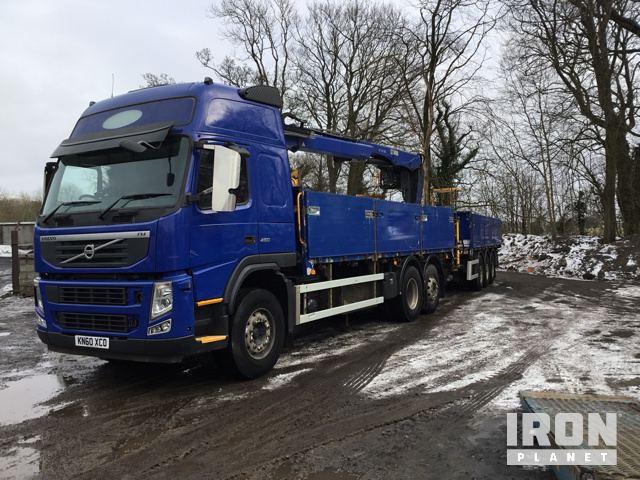 2010 Volvo FM11 450 6x2 Block Truck c/w Crane and Tri Axle