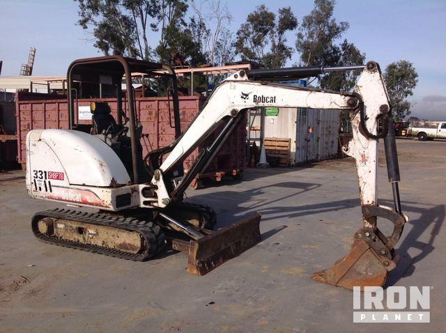 Bobcat 331 D Mini Excavator in San Diego, California, United States