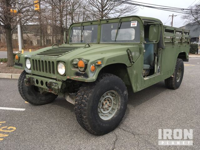 1990 AM General M998 4x4 Humvee HMMWV 2 Door Soft Top w/Truck Body in Teterboro, New Jersey, United States (IronPlanet Item #1377170)