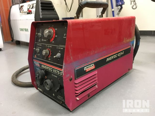 Lot of (2) Lincoln Electric Invertec V275-S Electric Welders in