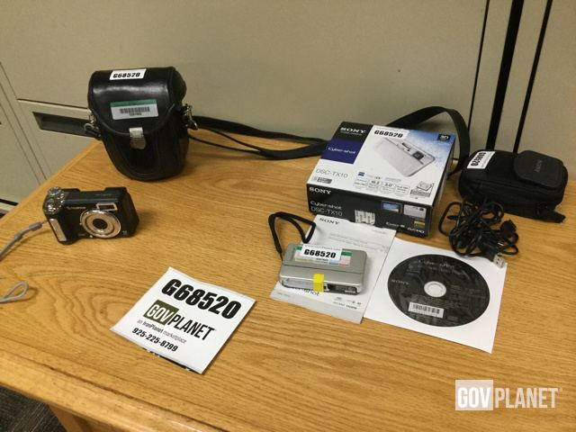 Lot of (1) FinePix E900 & (1) Sony DSC-TX10 Digital Cameras
