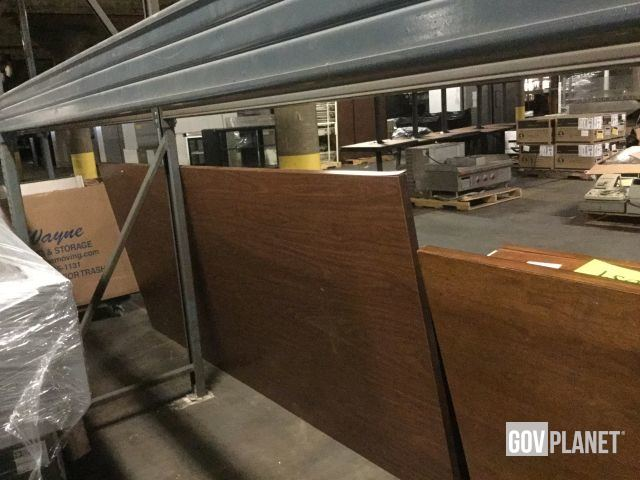 Wood Conference Room Table Tops and Legs/Bases Approx  8 Ft, Qty 2