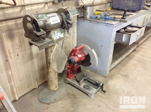 Magnificent Lot Of 1 Sioux Bench Grinder 1 Milwaukee Chop Saw In Gmtry Best Dining Table And Chair Ideas Images Gmtryco