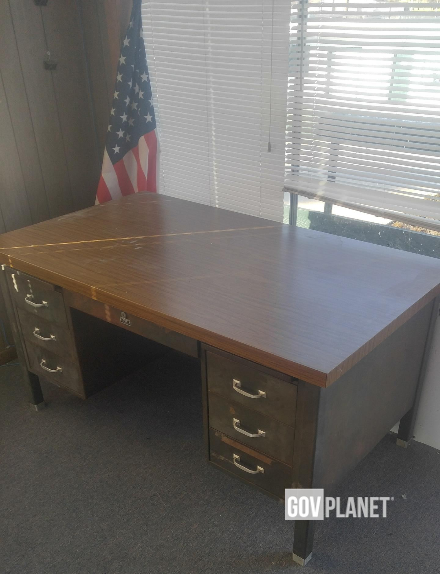 Mid Century Metal Tanker Desk 2