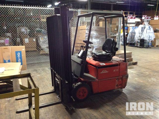 Beliebt Bevorzugt Linde E15-02 Electric Forklift in Oshkosh, Wisconsin, United &KU_14