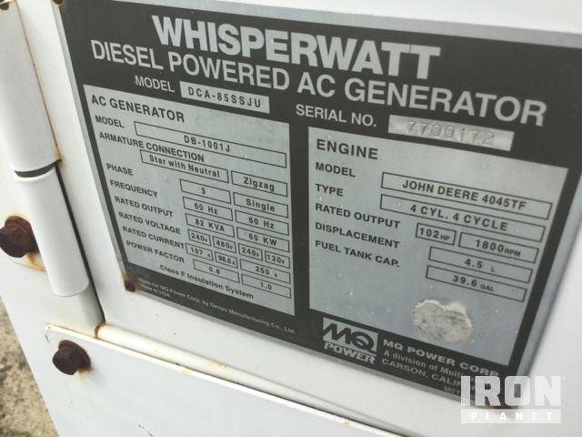 Generator Model/Serial Number