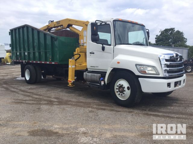 Brush Hawg Knuckle Boom on 2011 Hino 338 Dump Truck in