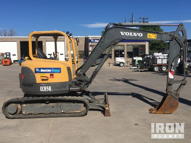 volvo ecr58 mini track excavator in englewood colorado united rh ironplanet com