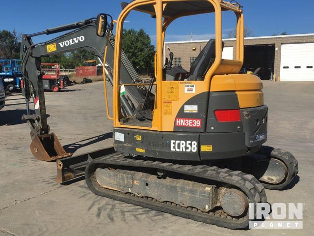 volvo ecr58 mini track excavator in englewood colorado united rh ironplanet com Environmental Manual Instruction Manual