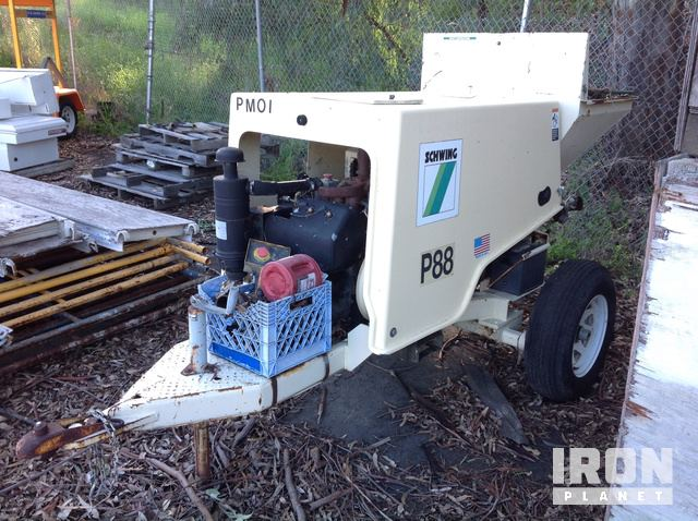 Schwing P88 Trailer Mounted Concrete Pump in Martinez, California