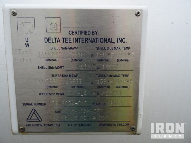Lot of (12) Delta Tee 1440 PSI Heavy Crude Oil Cooler Heat