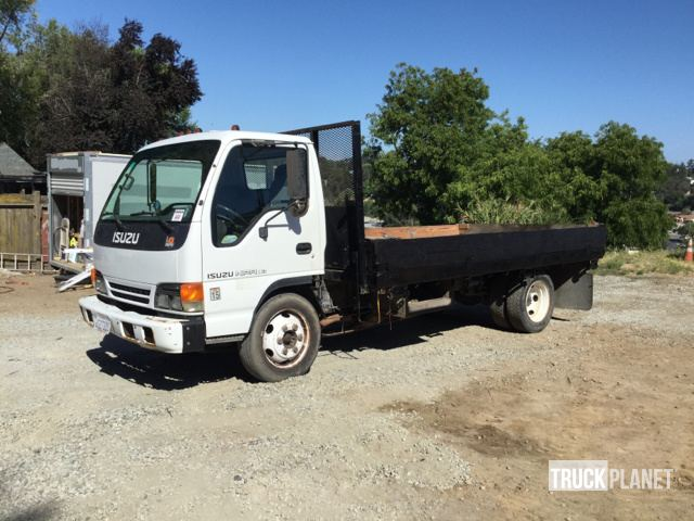 2000 Isuzu NPR S/A Flatbed Truck in El Sobrante, California, United