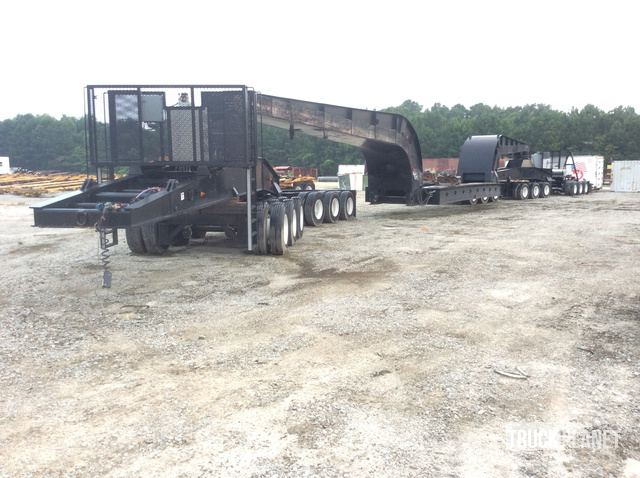 1990 Talbert T4/6-JW Heavy Haul Trailer w/1994 Peterbilt 379 T/A Pusher Truck, Miscellaneous Trailer - Other