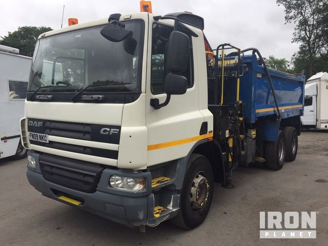 2009 DAF CF 75 310 6x4 Tipper Grab in Ingleton, North