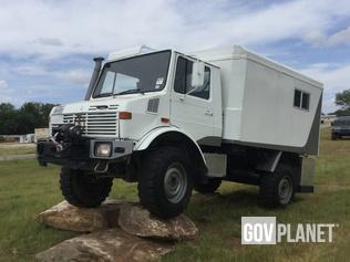 Surplus 1986 Mercedes Benz Unimog 435 4x4 Cargo Truck In