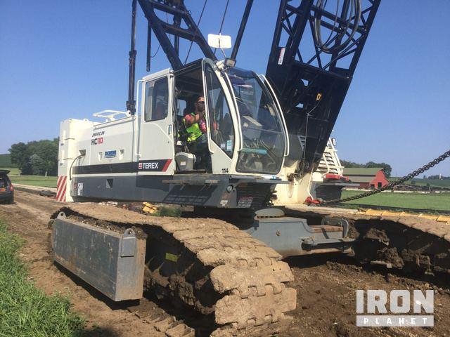 2008 terex american hc110 lattice boom crawler crane in rh ironplanet com Wheeled Excavator Terex Compact Track Loader