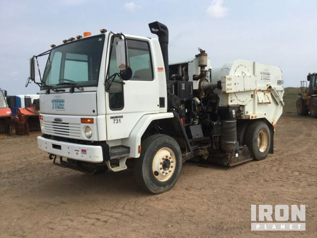 Tymco 600 Air Sweeper on 2006 Freightliner FC80 S/A Truck in
