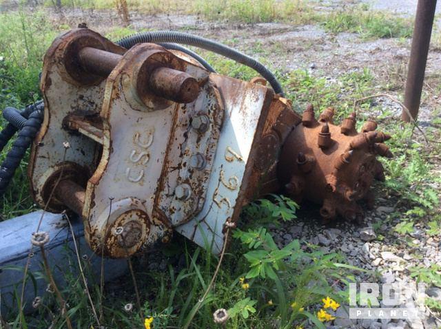 Erkat ER100 Rotary Drum Cutter Excavator Attachment in Akron