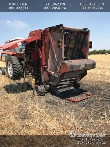 2007 New Holland BR750A Round Baler in Ponder, Texas, United