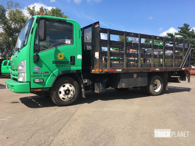 2011 Isuzu NPR HD S/A Flatbed Truck in Hartford, Connecticut, United