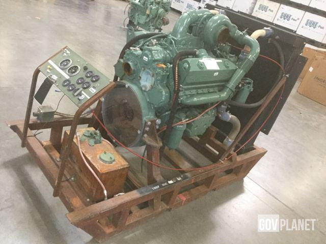 Surplus Detroit Diesel Turbo 8V92 With Radiator, Control