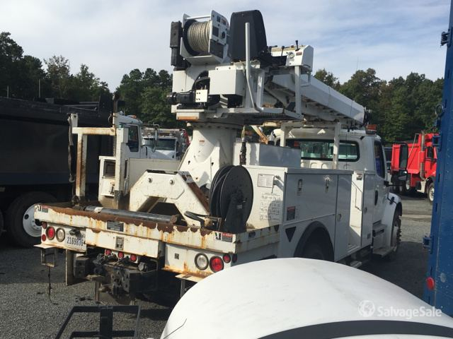 Altec DC47T Digger Derrick on 2014 Freightliner M2106 S/A Truck in