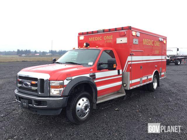 Surplus 2009 Ford F-450 4x4 Super Duty Ambulance in Chehalis
