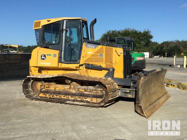 2012 John Deere 700K LGP Crawler Dozer w/ Winch in