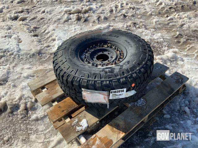 Surplus Goodyear Wrangler 37x12 50R16 5 MT/R Tire w/Wheel in