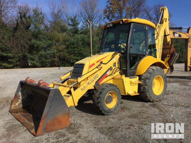 new holland lb75b 4x4 backhoe loader in louisville, kentucky, united states  (ironplanet item #1861267)