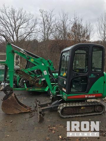 2012 Bobcat 324M Mini Excavator in Fairmont, West Virginia