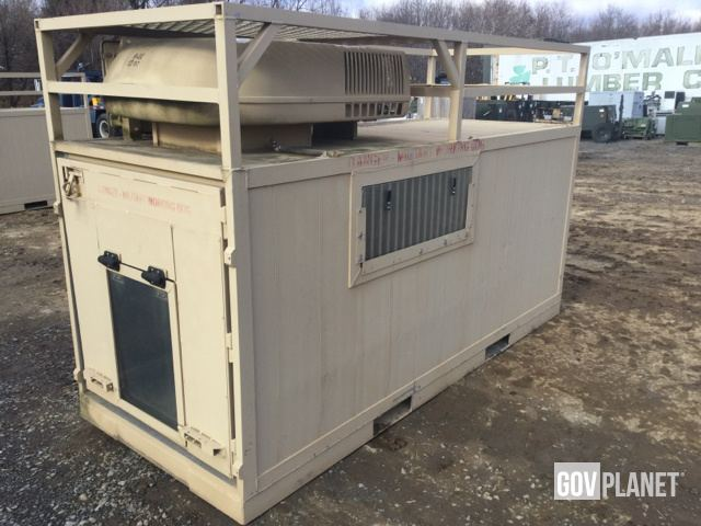 Surplus Garrett Container Climate Controlled Dog Kennel In