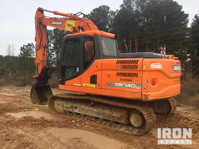 2014 Doosan DX140LC-3 Track Excavator in Garner, North