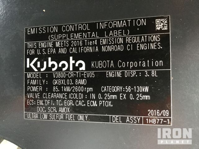 2016 Kubota M6S111D 4WD Tractor in Land O Lakes, Florida