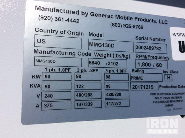 2017 Generac MMG130D Portable Gen Set in Heber City, Utah
