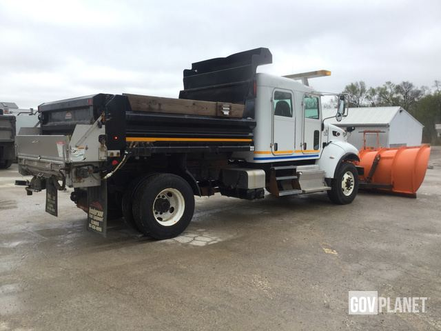 Surplus 2015 Peterbilt 348 Snow Plow/Dump Truck in Rockford