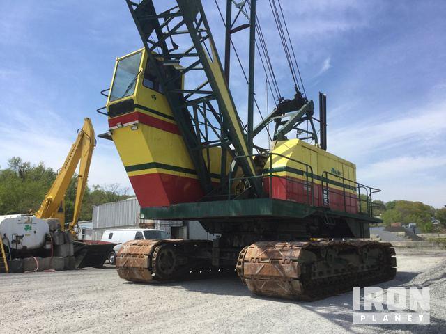 1981 Bucyrus Erie 88B Lattice-Boom Crawler Crane in Port