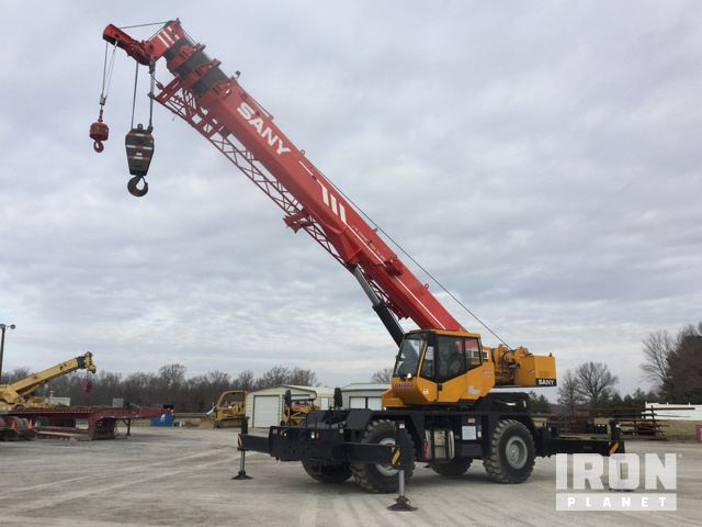 2012 Sany SRC840 Rough Terrain Crane in Marion, Illinois, United