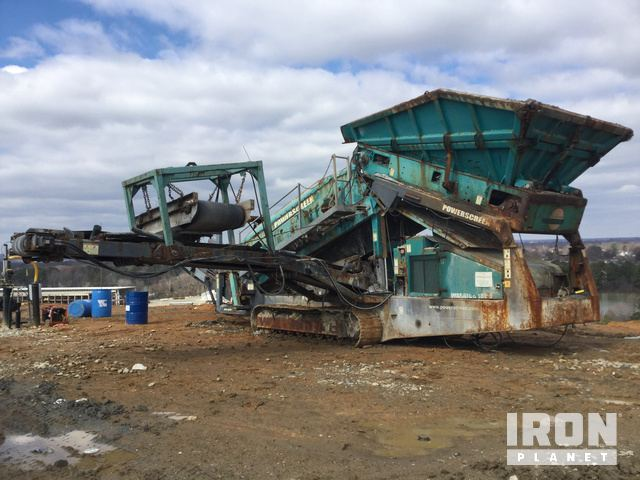2014 Powerscreen Warrior 1800 Tracked Mobile Screen Plant in Henrico