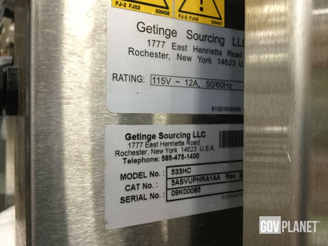 Getinge 533HC-E Steam Sterilizer