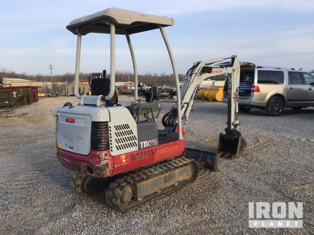 2012 Takeuchi TB016 Mini Excavator in London, Kentucky
