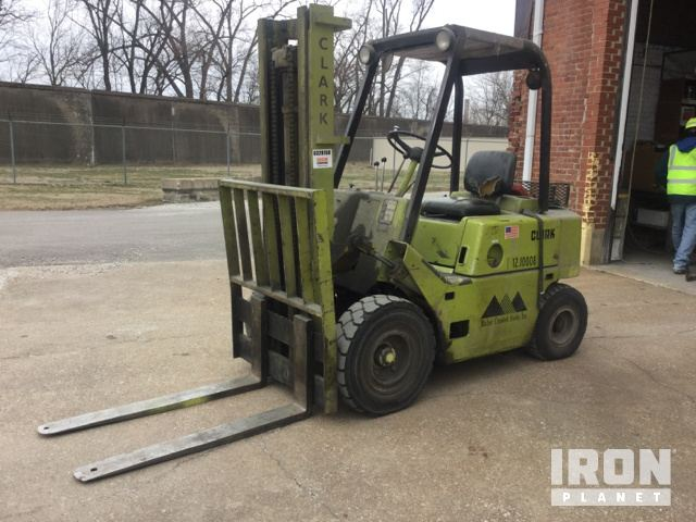 Clark C500HY40 Pneumatic Tire Forklift in Tell City, Indiana, United