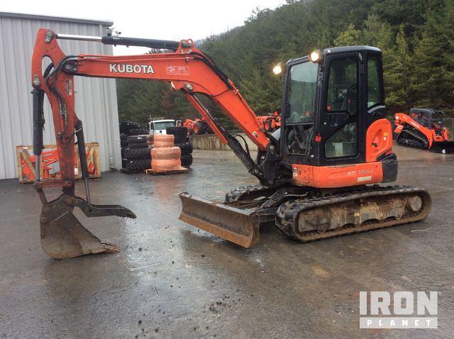 2016 Kubota U55-4 Mini Excavator in Blue Ridge, Georgia