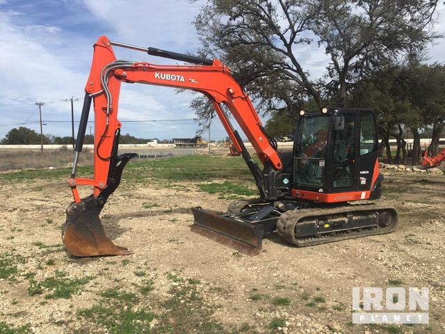 2017 Kubota KX080-4S Mini Excavator in Boerne, Texas, United
